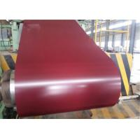 China Red Galvanized PPGI Steel Coil , Color Coated Steel Coil RAL9002 9003 G550 on sale