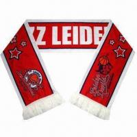 Buy cheap Soccer Scarves with Fringes and Printing Logo, Made of Spandex from wholesalers