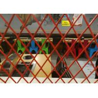 Buy cheap Decoration Metal Expanded Aluminum Mesh , 0 . 4mm Thickness Red Coating Expanded Wire Mesh from wholesalers