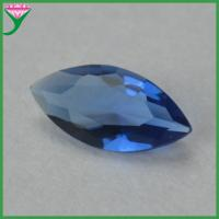 China synthetic dark blue marquise diamond cut glass gems bulk for sale