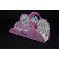 Quality Cosmetic Organizer Countertop Eyeshadow Display Stand Printing Pink Cartoon Logo for sale