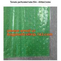 China Perforated Black Agricultural Mulch Film for Weed Control Membrane,Pre-stretch Perforated UV Resistant Agriculture Film on sale