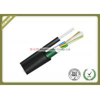 Quality Figure 8 Self Supporting Outdoor Fiber Optic Cable For Aerial With Steel Tape for sale