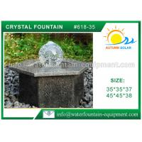 Quality Hexagon Base Natural Stone Fountains Outdoor For Lanscape Hand Carved for sale