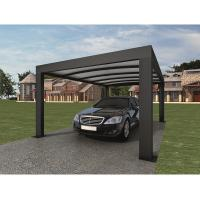 Quality Anthracite Garden Shade Netting / Carport Cubus Single Genua Induction Garage for sale