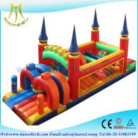 Quality Hansel new outdoor inflatable obstacle course equipment for kids paly or rental for sale