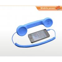 Buy OEM and ODM portable blue Anti Radiation Retro Cell phone Handset with 3.5mm plug at wholesale prices