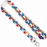 Quality ECO Felt Sublimation Lanyards, 15mm Wide for sale