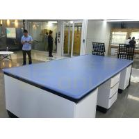 Monolithic Epoxy Resin Laboratory Countertop With Bevel Edge And Chemical Resistance for sale