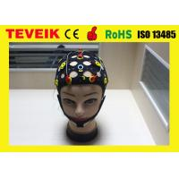 Quality Black Tin Electrode 20 Leads Separating EEG Hat With ECG Cable for sale