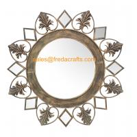 Quality Wholesale Eco-Friendly Europe Style Resom Decorated Handmade metal Antique Mirror for sale