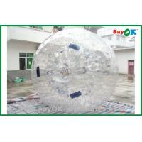 Quality Gaint Tranparent Inflatable Zorb Ball 2.3x1.6m Human Hamster Ball for sale