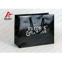 Black Glossy Lamination Custom Printed Retail Bags , Modern Kraft Paper Shopping Bags