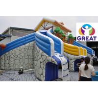high quality large inflatable water slide with pool with warranty 48months GTWP