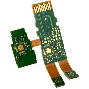 China Rigid Flex pcb with heavy copper 3OZ gold finger edge plating on sale