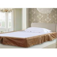 Quality Decorative 5 Pleat Hotel Bed Skirts And Yellow Color & Stripe Customize Size for sale