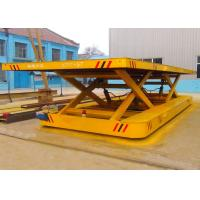 Cement Plant Scissor Lifting Table Track Vehicle For Large Capacity for sale