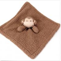 Quality Bean Sprout Brown Baby Gear Monkey Security Blanket For Travel / Bedding for sale
