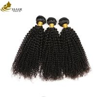Quality 100% Unprocessed Kinky Curl Malaysian Virgin Hair Extensions Natural Black for sale