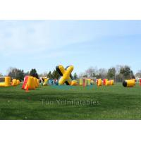 Quality Cold Resistant Inflatable Speedball Bunkers Outdoor With 680W Air Pump for sale