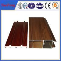 Quality Wooden Surface Windows And Doors Aluminium Profile Extrusion For Windows And Doors for sale
