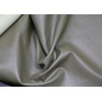 Quality Grey Polyurethane Faux Leather , PU Artificial Leather Eco - Friendly for sale