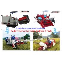 Quality Paddy Combined Harvester with rubber track for sale