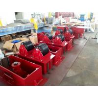 Quality 15 T Hydrulic Lifting Bolt Adjustment  Pipe Roller Stands , CE Pipe Welding Rollers for sale