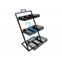 Quality Customised Size Stationery Display Rack Metal Flower Pot Stand Shelf For Flower Shop for sale