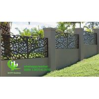 Quality CNC cutting panel aluminum decorative sheet for facade cladding fence windows with colorful painting for sale
