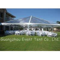 Clear Span Marquee With Glass Fire Door , Steel Clear Span Buildings Windproof