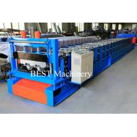 Quality Hydraulic Press Logo Steel Decking Sheet Floor Roll Forming Machine PLC Control System for sale