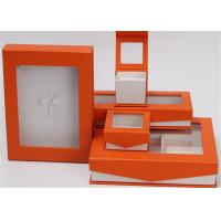 Quality Kraft Paper Jewelry Box Screen Printing Logo With Lids Environmentally Friendly for sale