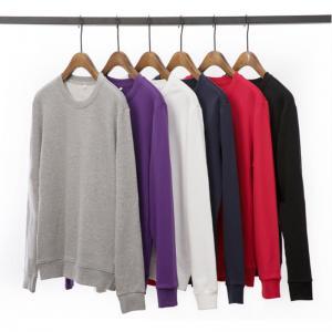 Quality wholesale blank men's french terry wholesale crewneck sweatshirt for sale