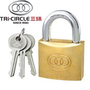 China Tri-Circle heavy duty brass padlock on sale
