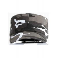 Quality Camouflage Fabric Cool Flat Peak Caps Brim Curve Adjustable Size Personalized for sale
