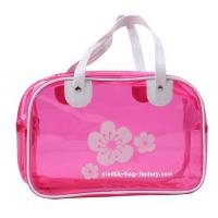 Quality Floral Printing PVC Tote Bag Personalized Design With Double Layers Handles for sale