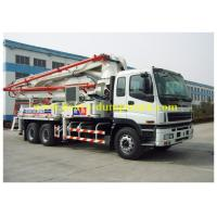 China ISUZU truck mounted concrete pump Japan chassis 37m boom with powerful engine on sale