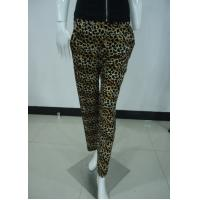 Quality Leopard Print Women'S Fashion Leggings Ladies Velvet Trousers / Pants With Side Pockets for sale