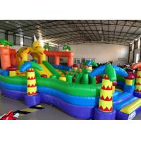Quality Cute inflatable dinosaur fun amusement park for kids inflatable little dino fun city on land for sale