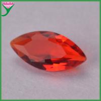 China guangxi wuzhou wholesale aaa marquise glass names dark red gemstones for sale