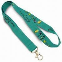 Quality 2cm Wide Promotional Polyester Lanyards, Suitable for Any Logo with Simple Hook for sale