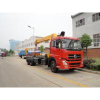Quality dongfeng 8x4 crane truck mounted 14ton crane for sale