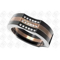 Buy cheap Luxurious Stainless Steel Rings With Clear Cz Cnc 6mm Width from wholesalers