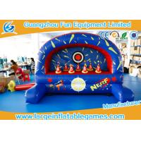 Quality Outdoor / Indoor Inflatable Sport Games , Inflatable Nerf Shootout Game for sale