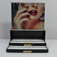 Buy Black Portable Custom Store Fixture , Cosmetic Acrylic Display Rack at wholesale prices