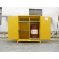 Quality 110 Gallon Yellow Drum Storage Cabinets With Removable Roller For Oil Paint for sale