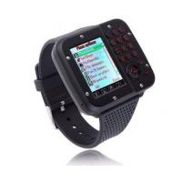 Buy Popular waterproof Black / Silver / Rose Gold wrist watch phone with MTK 6253 at wholesale prices