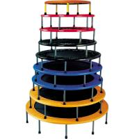 Multi Color Jumping Fitness Trampoline Large Safety Factor PVC Padding Material