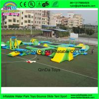 Buy cheap Custom design outdoor adults giant inflatable floating water park for open water from wholesalers